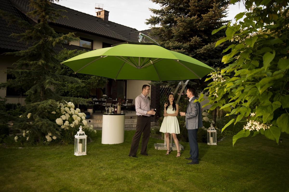 Parasol ogrodowy Ibiza 420 cm szary