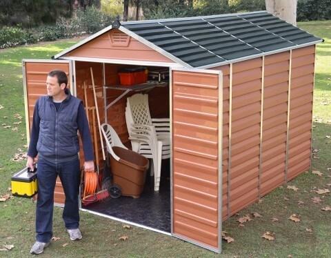 Narzędziowy domek do ogrodu SkyLight 6x10 Brązowy