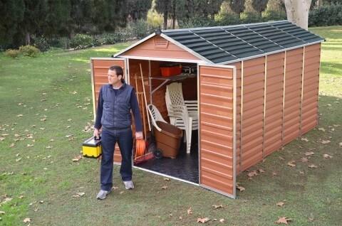 Narzędziowy domek do ogrodu SkyLight 6 x12 Brązowy