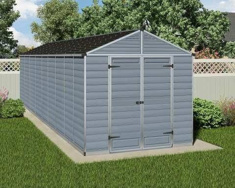 Narzędziowy domek do ogrodu SkyLight 8 x 20 Szary