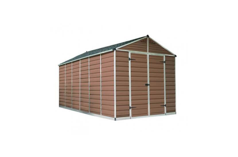 Narzędziowy domek do ogrodu SkyLight 8 x 16 brązowy