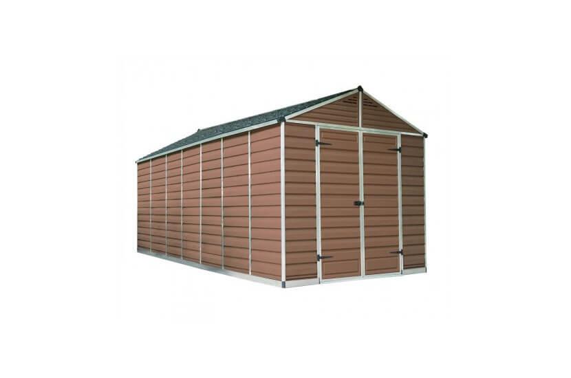 Narzędziowy domek do ogrodu SkyLight 8 x 20 brązowy