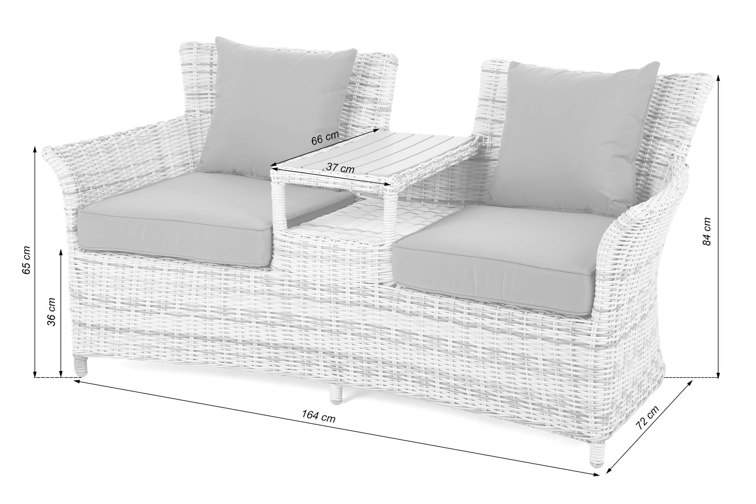 Sofa ogrodowa Majorka Light grey/ Grey
