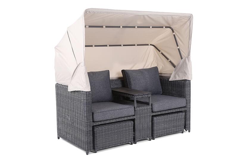 Sofa ogrodowa z baldachimem Missouri Grey / Grey