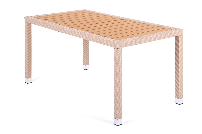 Stół z technorattanu Mori Beige