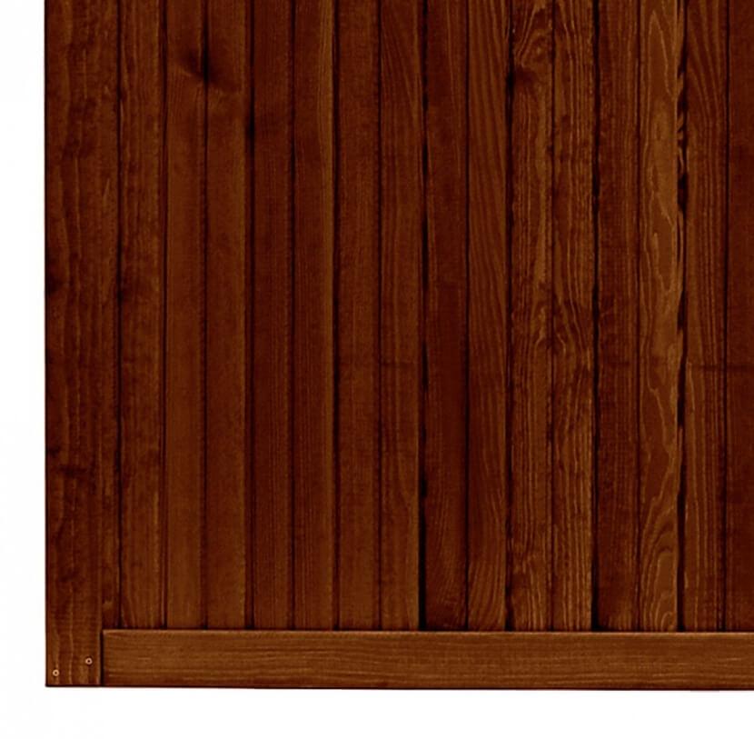 Płot boazeryjny 1800/900 x 900 mm YORK Brąz