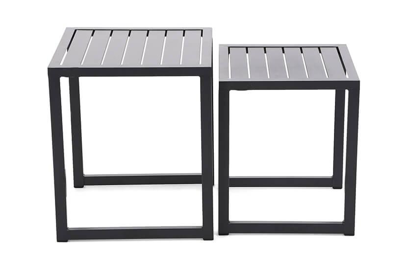 Zestaw stolików aluminiowych Chepa  Black